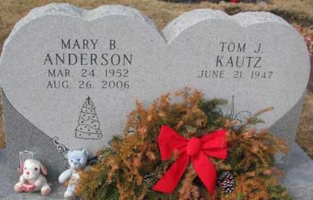 ANDERSON KAUTZ, MARY B. - Yankton County, South Dakota | MARY B. ANDERSON KAUTZ - South Dakota Gravestone Photos