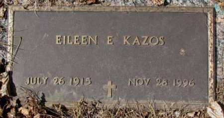 KAZOS, EILEEN E. - Yankton County, South Dakota | EILEEN E. KAZOS - South Dakota Gravestone Photos