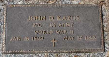 KAZOS, JOHN D. (WW II) - Yankton County, South Dakota | JOHN D. (WW II) KAZOS - South Dakota Gravestone Photos