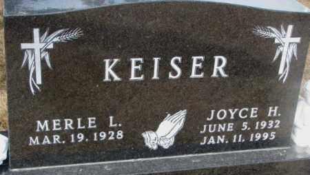 KEISER, MERLE L. - Yankton County, South Dakota   MERLE L. KEISER - South Dakota Gravestone Photos
