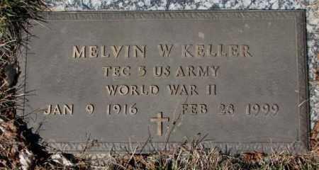 KELLER, MELVIN W. - Yankton County, South Dakota   MELVIN W. KELLER - South Dakota Gravestone Photos