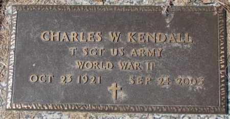 KENDALL, CHARLES W. - Yankton County, South Dakota | CHARLES W. KENDALL - South Dakota Gravestone Photos