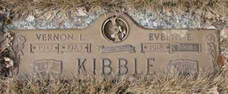 KIBBLE, EVELYN E. - Yankton County, South Dakota   EVELYN E. KIBBLE - South Dakota Gravestone Photos