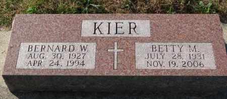 KIER, BERNARD W. - Yankton County, South Dakota | BERNARD W. KIER - South Dakota Gravestone Photos