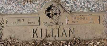 KILLIAN, MINNIE H. - Yankton County, South Dakota | MINNIE H. KILLIAN - South Dakota Gravestone Photos