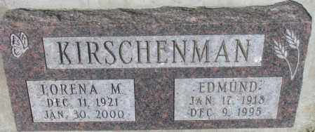 KIRSCHENMAN, EDMUND - Yankton County, South Dakota | EDMUND KIRSCHENMAN - South Dakota Gravestone Photos