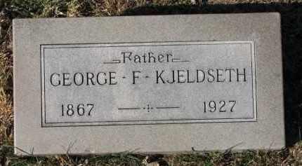 KJELDSETH, GEORGE F. - Yankton County, South Dakota   GEORGE F. KJELDSETH - South Dakota Gravestone Photos