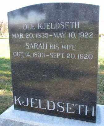 KJELDSETH, SARAH - Yankton County, South Dakota | SARAH KJELDSETH - South Dakota Gravestone Photos