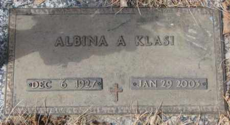KLASI, ALBINA A. - Yankton County, South Dakota | ALBINA A. KLASI - South Dakota Gravestone Photos