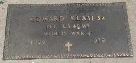KLASI, EDWARD SR. - Yankton County, South Dakota   EDWARD SR. KLASI - South Dakota Gravestone Photos