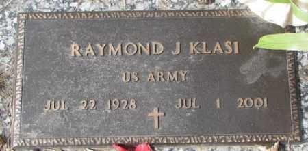 KLASI, RAYMOND J. - Yankton County, South Dakota | RAYMOND J. KLASI - South Dakota Gravestone Photos