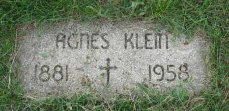 KLEIN, AGNES - Yankton County, South Dakota | AGNES KLEIN - South Dakota Gravestone Photos