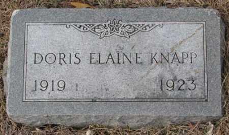 KNAPP, DORIS ELAINE - Yankton County, South Dakota   DORIS ELAINE KNAPP - South Dakota Gravestone Photos