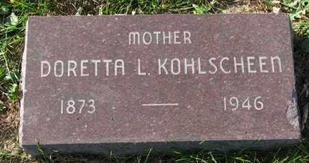 KOHLSCHEEN, DORETTA L. - Yankton County, South Dakota | DORETTA L. KOHLSCHEEN - South Dakota Gravestone Photos