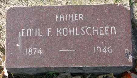 KOHLSCHEEN, EMIL F. - Yankton County, South Dakota   EMIL F. KOHLSCHEEN - South Dakota Gravestone Photos