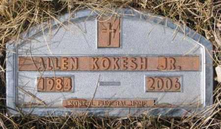 KOKESH, ALLEN JR. - Yankton County, South Dakota   ALLEN JR. KOKESH - South Dakota Gravestone Photos