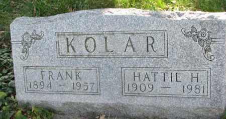 KOLAR, HATTIE H. - Yankton County, South Dakota | HATTIE H. KOLAR - South Dakota Gravestone Photos