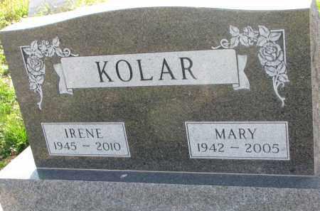 KOLAR, MARY - Yankton County, South Dakota | MARY KOLAR - South Dakota Gravestone Photos