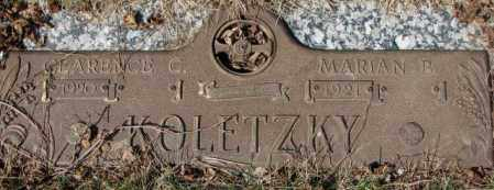 KOLETZKY, MARIAN B. - Yankton County, South Dakota | MARIAN B. KOLETZKY - South Dakota Gravestone Photos