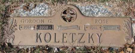 KOLETZKY, GORDON G. - Yankton County, South Dakota | GORDON G. KOLETZKY - South Dakota Gravestone Photos