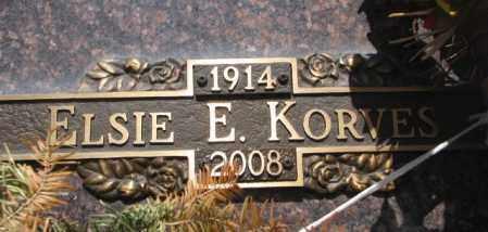 KORVES, ELSIE E. - Yankton County, South Dakota | ELSIE E. KORVES - South Dakota Gravestone Photos