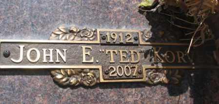 """KORVES, JOHN E. """"TED"""" - Yankton County, South Dakota   JOHN E. """"TED"""" KORVES - South Dakota Gravestone Photos"""
