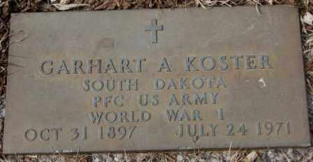 KOSTER, CARHART A. (WW I) - Yankton County, South Dakota   CARHART A. (WW I) KOSTER - South Dakota Gravestone Photos