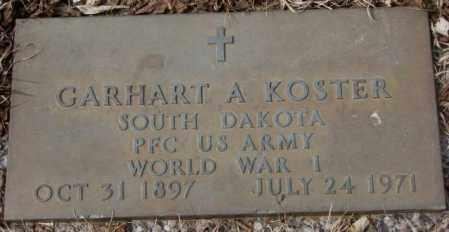 KOSTER, CARHART A. (WW I) - Yankton County, South Dakota | CARHART A. (WW I) KOSTER - South Dakota Gravestone Photos