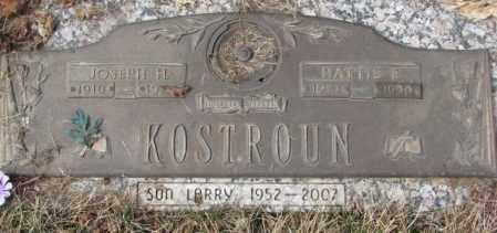 KOSTROUN, JOSEPH H. - Yankton County, South Dakota | JOSEPH H. KOSTROUN - South Dakota Gravestone Photos
