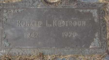KOSTROUN, RONALD L. - Yankton County, South Dakota | RONALD L. KOSTROUN - South Dakota Gravestone Photos