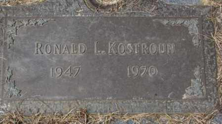 KOSTROUN, RONALD L. - Yankton County, South Dakota | RONALD L. KOSTROUN - South Dakota Gravestone Photos