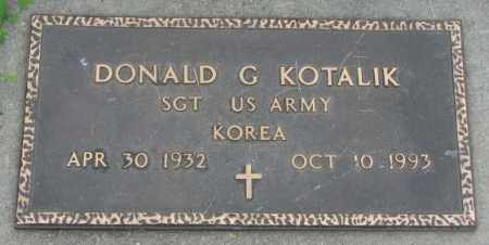 KOTALIK, DONALD G. (MILITARY) - Yankton County, South Dakota | DONALD G. (MILITARY) KOTALIK - South Dakota Gravestone Photos