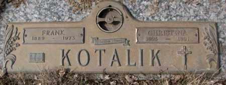 KOTALIK, CHRISTINA - Yankton County, South Dakota | CHRISTINA KOTALIK - South Dakota Gravestone Photos