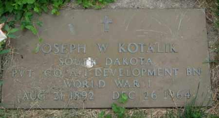 KOTALIK, JOSEPH W. (WW I) - Yankton County, South Dakota | JOSEPH W. (WW I) KOTALIK - South Dakota Gravestone Photos