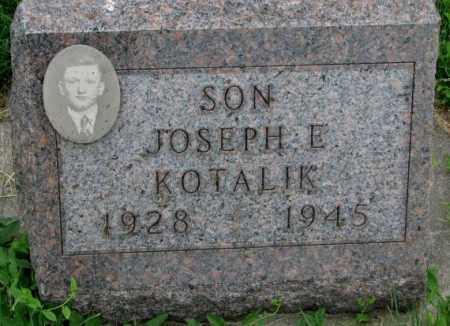 KOTALIK, JOSEPH E. - Yankton County, South Dakota | JOSEPH E. KOTALIK - South Dakota Gravestone Photos