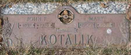 KOTALIK, JOHN F. - Yankton County, South Dakota | JOHN F. KOTALIK - South Dakota Gravestone Photos