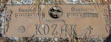 KOZAK, EMANUEL J. - Yankton County, South Dakota   EMANUEL J. KOZAK - South Dakota Gravestone Photos