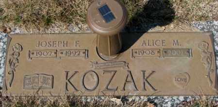 KOZAK, ALICE M. - Yankton County, South Dakota | ALICE M. KOZAK - South Dakota Gravestone Photos
