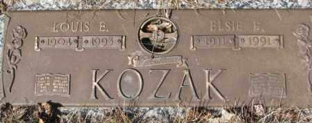 KOZAK, ELSIE E. - Yankton County, South Dakota   ELSIE E. KOZAK - South Dakota Gravestone Photos