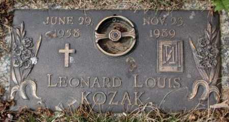 KOZAK, LEONARD LOUIS - Yankton County, South Dakota | LEONARD LOUIS KOZAK - South Dakota Gravestone Photos