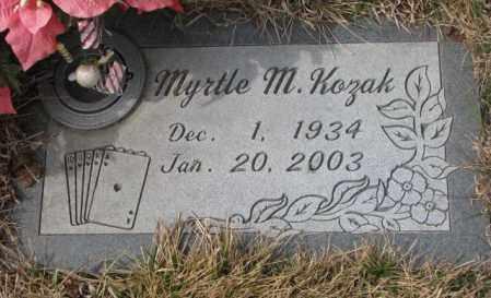 KOZAK, MYRTLE M. - Yankton County, South Dakota | MYRTLE M. KOZAK - South Dakota Gravestone Photos