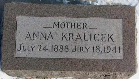 KRALICEK, ANNA - Yankton County, South Dakota   ANNA KRALICEK - South Dakota Gravestone Photos