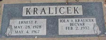 BECVAR KRALICEK, IOLA A. - Yankton County, South Dakota | IOLA A. BECVAR KRALICEK - South Dakota Gravestone Photos