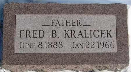 KRALICEK, FRED B. - Yankton County, South Dakota | FRED B. KRALICEK - South Dakota Gravestone Photos