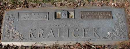 KRALICEK, FRED L. - Yankton County, South Dakota   FRED L. KRALICEK - South Dakota Gravestone Photos
