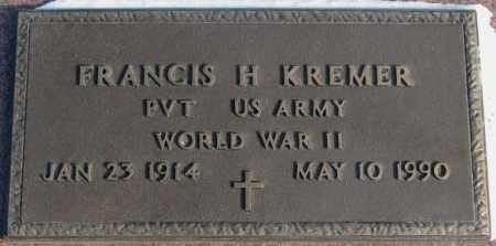 KREMER, FRANCIS H. (WW II) - Yankton County, South Dakota | FRANCIS H. (WW II) KREMER - South Dakota Gravestone Photos