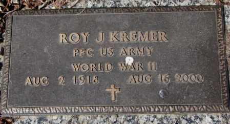 KREMER, ROY J. - Yankton County, South Dakota | ROY J. KREMER - South Dakota Gravestone Photos