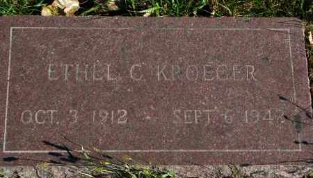 KROEGER, ETHEL C. - Yankton County, South Dakota   ETHEL C. KROEGER - South Dakota Gravestone Photos