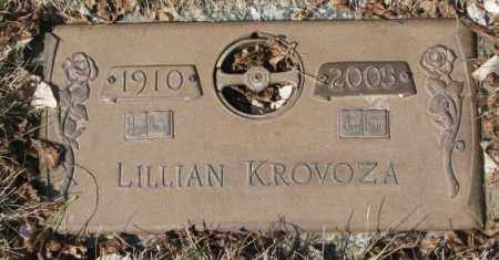 KROVOZA, LILLIAN - Yankton County, South Dakota | LILLIAN KROVOZA - South Dakota Gravestone Photos