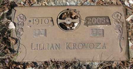 KROVOZA, LILLIAN - Yankton County, South Dakota | LILLIAN KROVOZA - South Dakota Gravestone Photos